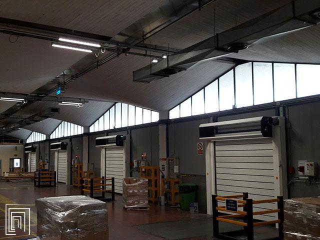 porte industriali coibentate per baie di carico